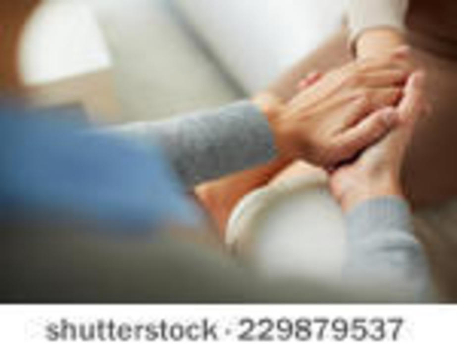 Doc preview stock photo close up of psychiatrist hands together holding palm of her patient 229879537