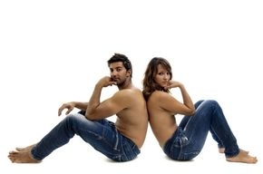 Tip list pareja en jeans