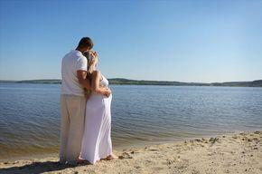 Tip list pareja embarazada  lago