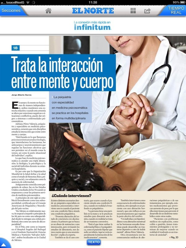 Entrevista Reportaje con la Dra Adriana Perez Valencia