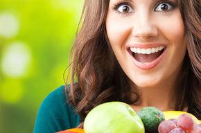 Tip list 123 mujer sonriendo fruta